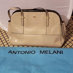 Antonio Melani cream leather Purse with Dust bag